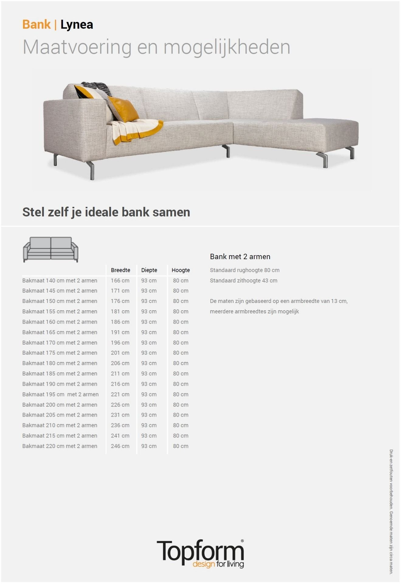 Hoekbank Elements Topform.Topform Hoekbank Lynea In Stof